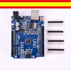 arduino uno r3 compatible atmega328p ch340g pines sin cable usb - Categoria: Avisos Clasificados Gratis  Estado del Producto: NuevoVENTA DE UNARDUINO UNO COMPATIBLESIN CABLE USB La placa es nuevaDispone de dos filas de agujeros de conexiAn para los pinesMicro ATMEGA328PDotado de CH340GIncluido:1 x Placa Arduino con ATMEGA328P y CH340G4 x Grupos de pinesENVIAMOS EJEMPLOS PARA ARDUINO ENVAO EN EL MISMO DAA DESDE ESPAAAPara cualquier cuestiAn enviar mensaje, lo responderA inmediatamenteVarias…