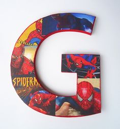 SpiderMan Inspired Letter Room Decor by TheRCB on Etsy, $11.00