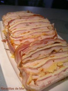 Pastel de pechugas de pollo. Tapas, Salada Light, Comida Diy, Good Food, Yummy Food, Cooking Recipes, Healthy Recipes, I Foods, Food To Make
