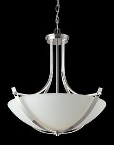 With stunning chrome arms that flow throughout, this pendant is a masterpiece of contemporary design. A matte opal shade creates a soft modern glow, while the beautiful chrome detailing makes for a bold and cutting edge statement. Outdoor Ceiling Fans, Chrome, Home Lighting, 3 Light Pendant, Light, Lighting, Outdoor Lighting, Contemporary Design, Ceiling Lights