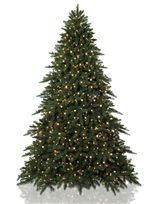 Aspen Estate Fir Artificial Christmas Trees, Prelit Artificial Christmas Potted Tree - Balsam Hill
