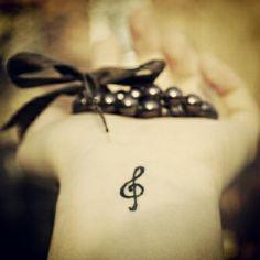 #tiny #tatts #tattoos #tattoo #wrist #wristtattoo #inked #ink #girl #girly #smalltattoo #small #cool #cute #pretty #sweet #tinytattos #tinytattoo #bracelet #musicnote #musicnotetattoo #instatattoo #weheartit