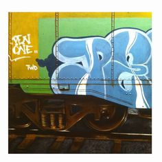 Pen One Freight. Acrylic on wood panel -John Perry