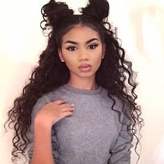 Lace Frontal Wigs Curls Soft Curls Short Hair Best Women Curly Wigs Best Hairstyles For Thick Curly Hair Soft Curls Short Hair, Thick Curly Hair, How To Curl Short Hair, Deep Curly, Straight Hair, Curly Bun, Medium Curly, Loose Curls, Medium Long