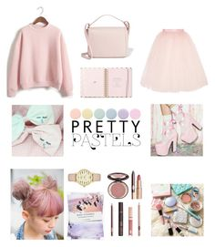 """""""Pretty Pastels"""" by miriam-miry ❤ liked on Polyvore featuring WithChic, Kate Spade, Deborah Lippmann, Dolce&Gabbana, Ballet Beautiful, Charlotte Tilbury and Nikki Strange"""