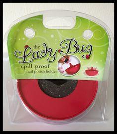 Lady Bug Nail Polish Holder