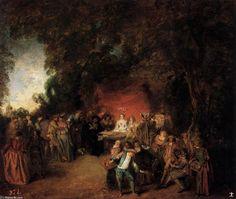 Jean Antoine Watteau - Le contrat de mariage