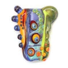 Carnival  Colorful Handmade Lampwork Focal Bead by by sarahhornik, $59.00