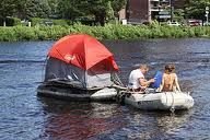 Okie rigged house boat tent
