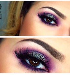 Purple eyes!  go to makeupgeek.com