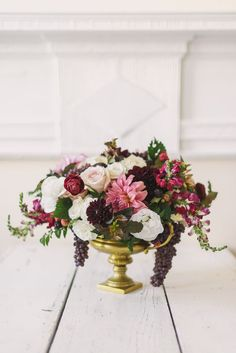 Jewel Tone Compote Wedding Centerpiece   Sweet Root Village Photography   http://heyweddinglady.com/wine-champagne-pairing-chic-wedding-palette/
