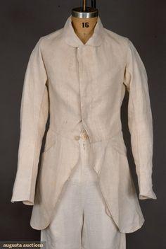COAT, AMERICA, 1840-1860