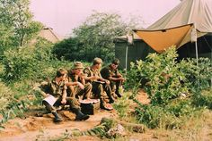 Nothing like watermelon on a hot day Defence Force, My Heritage, Military Art, Hot Days, Art Reference, Warriors, South Africa, Shelter, Watermelon
