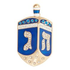 Finish your festive holiday look with this gold tone and simulated crystal dreidel pin from Dana Buchman. Finish your festive holiday look with this gold tone and simulated crystal dreidel pin from Dana Buchman. PIN DETAILS Dimensions: 2.11 in. x 1.22 in. Metal: alloy Plating: gold tone Finish: polished Material: glass, enamel Gift box included Additional details: nickel safe Not appropriate for children 14 years old and younger. Size: One Size. Color: Blue. Gender: female. Age Group: adult. Happy Hannukah, Holiday Looks, Holiday Festival, Christmas Ornaments, Crystals, Holiday Decor, Gold, Gifts, Gender Female