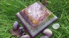 Organic Wild Flower & Rose bud, Healing Orgonite Pyramid - Heart Chakra by OrgoneJewelsUK on Etsy