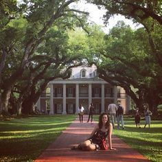 Under the shade of the oak alley. (at Oak Alley Plantation) -- Jordan Juliana