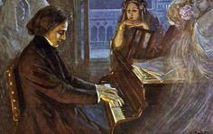 Lionello Balestrieri - Frederick Chopin Composing his Preludes, date? - Italy