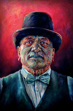 Contemporary Maori Portraits   Sofia Minson Oil Painting   New Zealand Artwork
