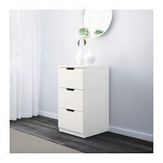 NORDLI Kommode med 3 skuffer, hvit - hvit - IKEA