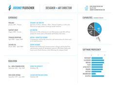 Resume 2009 by Jeremey Fleischer, via Behance