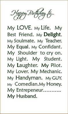 For my hubby, with all my love