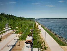 Promenade Samuel-De Champlain by Consortium Daoust Lestage inc. + Williams Asselin Ackaoui + Option aménagement, in Quebec City, Quebec, Canada.