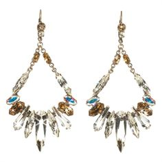 Sorrelli Silver Stardust Long Navette Cut Crystal Chandelier French Wire Earrings #VonMaur