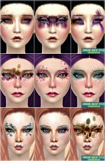 My Sims 4 Blog: Disco Diva Makeup by JenniSims