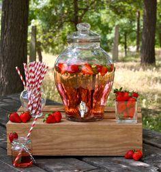 Fontaine à limonade en verre Chérie 6L - Place du Mariage