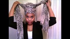 Natural Hair: Easy Headwrap Tutorial. It is not fast paced - but I was really able to do a pretty great headwrap after watching her! She made it so easy I experimented with several combinations. I'm set for my next bad hair day!