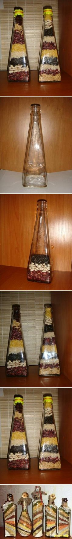 DIY Decorative Bottle with Seeds DIY Projects / UsefulDIY.com