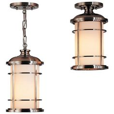 The Sea Gull Lighting Lighthouse outdoor pendant fixture in brushed steel creates a warm and inviting welcome presentation for your home's exterior. This Lighthouse pendant combines function and style. This fixture is a great choice for a do- Outdoor Pendant Lighting, Outdoor Hanging Lanterns, Hanging Ceiling Lights, Outdoor Lantern, Nautical Lighting, House Lighting, Ceiling Fans, Kitchen Lighting, Led Lighthouse