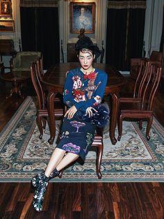 Smile: Kwak Ji Young in Harper's Bazaar Korea September 2015 by Kim Yeongjun