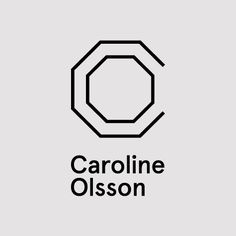 Monogram and logotype for Caroline Olsson designed by Commando Group.
