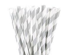 Printed Metallic Gold Paper Straws