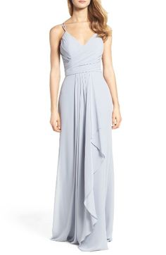 Free shipping and returns on Hayley Paige Occasions Chiffon Gown at Nordstrom.com. Gorgeous gathers enhance curves and whittle the waistline in this cascading grown great for modern romantics.