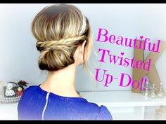 TWISTED UP DO. You can learn a few tricks which you can use for other hairstyles in this vide.