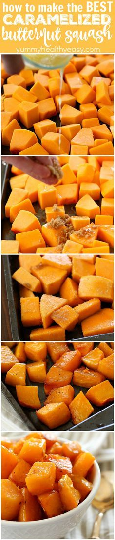 Caramelized Butternut Squash makes the tastiest side dish! It's one of the best ways to cook butternut squash and it's super easy to make! With a little sweet and a little spice, this butternut squash (Vegan Thanksgiving Butternut Squash)