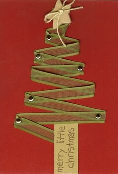 Ribbon Christmas Tree (for card or gift top)