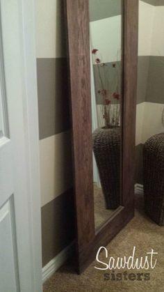 DIY Mirror frame tutorial. So easy!
