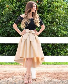 Short Sleeves Black and Gold Homecoming Dress with Lace Top/Bow Denim Skirt Outfits, Casual Dress Outfits, Girly Outfits, Dress Skirt, Lace Dress, Pleated Skirt, Modest Fashion, Fashion Dresses, Ladies Dress Design