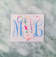 Two Color Lilly Pulitzer Vine Monogram decal