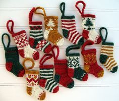 knitted christmas ornaments - Google Search