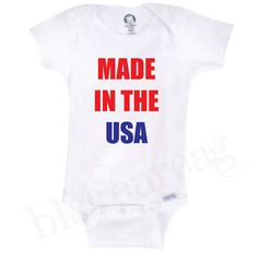 Made In The USA ONESIE Authentic Gerber Baby Shower by Blakenreag, $14.99