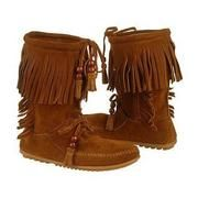 Minnetonka Woodstock Moccasins. Hey, hey these look pretty comfy.