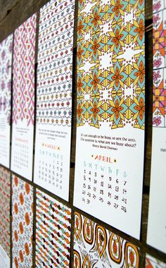 Letterpress calendar? Yes, please. So lovely. FREE SHIPPING 2012 Little Things Studio by littlethingsstudio, $15.00