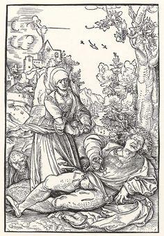 Artist: Schäufelein, Hans Leonhard, Title: Pyramus und Thisbe, Date: ca. 1510