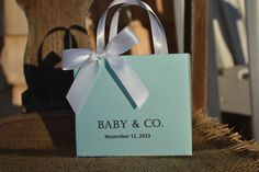 Tiffany blue party favor bags for your baby shower or by steppnout, $1.55