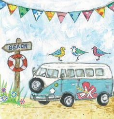 Campervan Cruising Greeting Card