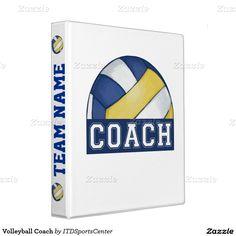 Volleyball Coach Vinyl Binders